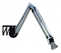 Wall-mounted extraction arm / rigid / for welding fume extractors / suction