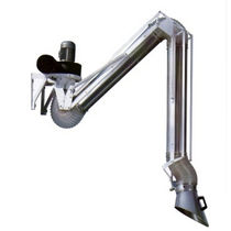 Wall-mounted extraction arm / flexible / dust / suction