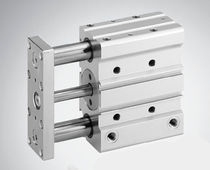 Pneumatic cylinder / double-acting / compact / guided