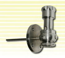 Lateral valve / sampling / for chemicals / stainless steel