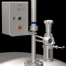 Piston valve / sampling / for chemicals / stainless steel