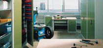 Storage cabinet / hinged door / floor-standing / steel