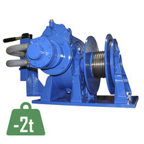 Pneumatic winch / compact / worm gear / explosion-proof