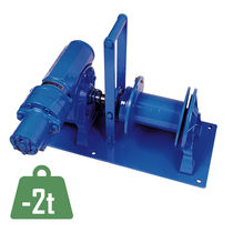 Hydraulic winch / lifting / for cable pullers / worm gear