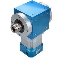 Bevel gear reducer / right-angle / precision / for servo motors