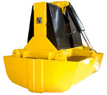 Clam bucket / hydraulic / for bulk materials