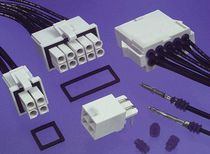 RF connector / rectangular / waterproof