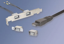 RF connector / BNC / rectangular / screw
