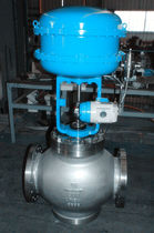 Temperature control valve / pneumatic / for chemicals / seat
