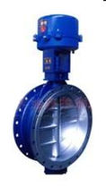 Control butterfly valve / electrically operated / for water / triple-offset