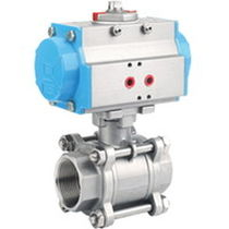 Ball valve / control / pneumatically-actuated / for gasoline