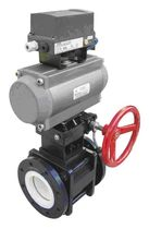 Ball valve / control / pneumatically-actuated