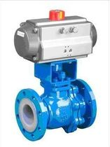 Ball valve / injection / pneumatically-actuated / for chemicals