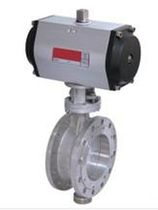 Pneumatically-actuated butterfly valve / triple-offset