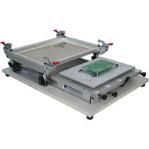 One-color stencil printer / for electronics / desktop / flat bed