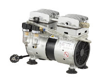 Oil-free vacuum pump / rotary vane / single-stage / for medical applications