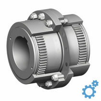 Curved-tooth gear coupling / flange