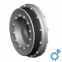 Flexible shaft coupling / anti-vibration / flange