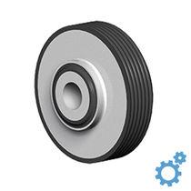 Round anti-vibration mount / rubber