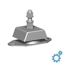 Square anti-vibration mount / rubber