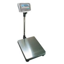 Counting scales / with LED display / stainless steel pan / battery-powered