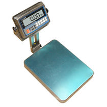 Benchtop scale / with LCD display / battery-powered / with external calibration weight