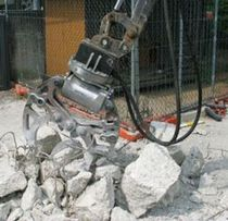Jaw mill / vertical / concrete / for excavators