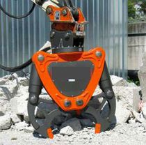 Jaw concrete pulverizer / vertical / for excavators