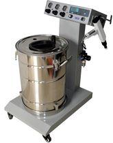 Powder coating machine with digital control