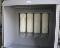Open paint booth / for parts / filter / with horizontal ventilation