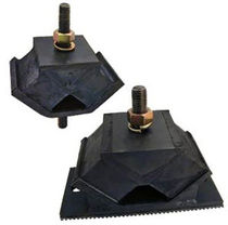 Threaded anti-vibration mount / for heavy machinery