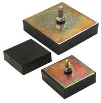 Square anti-vibration mount / threaded