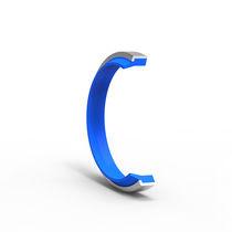 Wiper seal / circular / NBR / steel