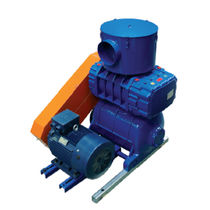 Rotary piston air vacuum blower