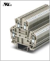 DIN rail-mounted terminal block / feed-through / dual-stage