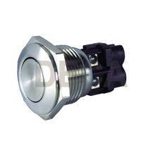 Illuminated switch / mushroom / single-pole / stainless steel