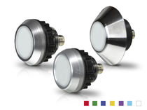 LED indicator light / panel-mount / water-resistant / vandal-proof