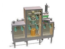 Automatic packing machine / for powders / contained / continuous-motion