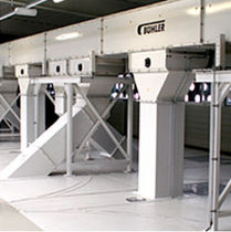 Chain conveyor / drag / horizontal / transport