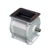 Pneumatic conveying rotary valve / square-flange