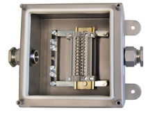 Steel terminal box / explosion-proof / wall-mounted / with cable gland