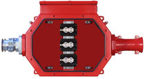 Steel junction box / explosion-proof / in-line / high-voltage