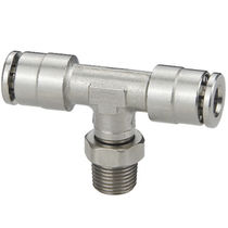 Push-in fitting / push-to-lock / T / pneumatic