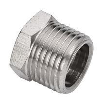 Hexagonal plug / male / threaded / brass