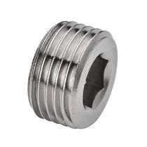 Hexagonal plug / male / threaded / nickel-plated brass