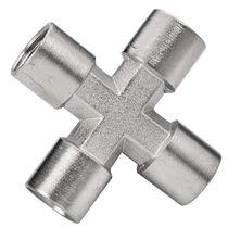 Screw-in fitting / cross / hydraulic / pneumatic