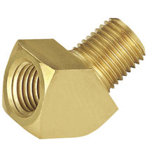 Threaded fitting / compression / flange / 45° angle