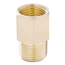 Threaded fitting / straight / for compressed air / brass