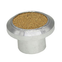 Exhaust silencer / for filters / for valves / for air treatment units