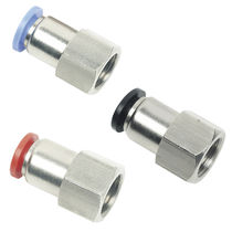 Threaded fitting / straight / pneumatic